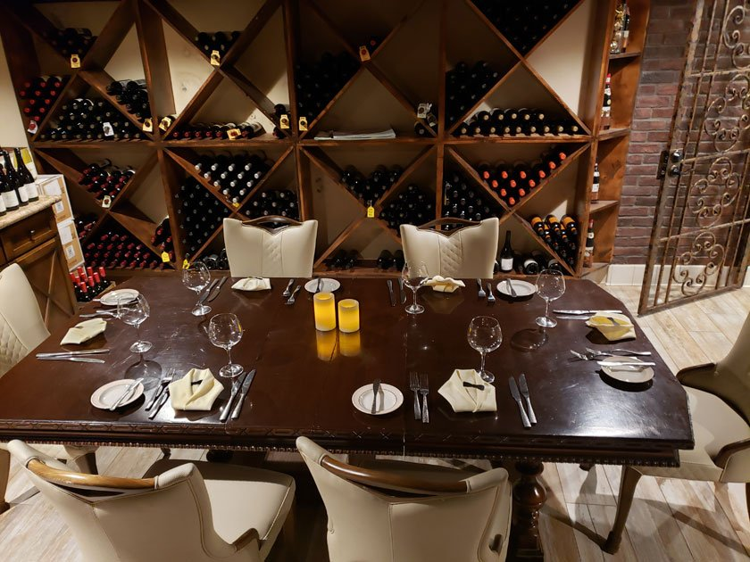 Chef's Table Cellar Dining